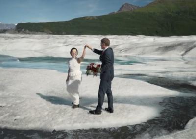 Shawn and Daphne Glacier Elopment